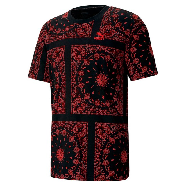 プーマ OB AOP Tシャツ PUMA PUMA BLACK-AOP メンズ Tシャツ 532544-01