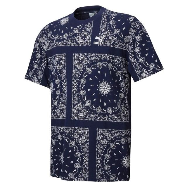 プーマ OB AOP Tシャツ PUMA PEACOAT-AOP メンズ Tシャツ 532544-06