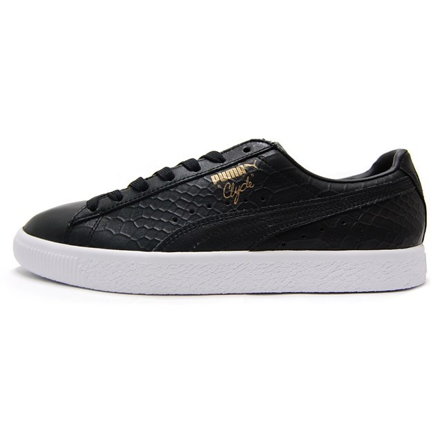 PUMA プーマ メンズ スニーカー CLYDE DRESSED クライド Puma Black プーマブラック 361704-01 [取扱店舗限定/LIMITED EDITION/FINEBOYS掲載/レザー/クロコ柄/国内正規販売店/Authorized Dealer]
