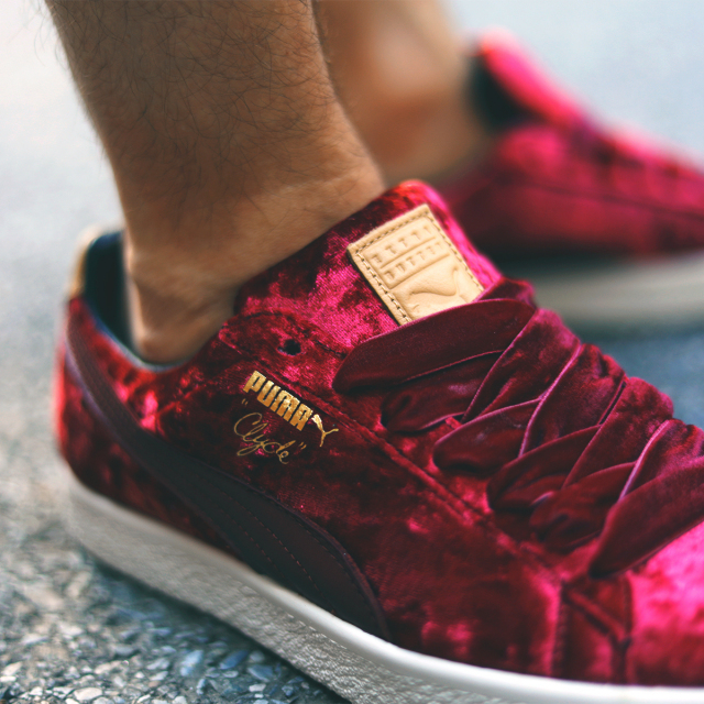 "PUMA CLYDE × EXTRA BUTTER ""Kings of New York"" CABERNET-WHISPER WHITE 362320-01"