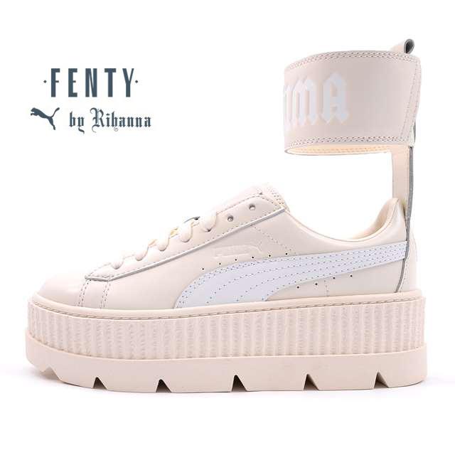 【30%OFF セール】 プーマ PUMA スニーカー レディース PUMA FENTY BY RIHANNA フェンティ バイ リアーナ アンクル ストラップ スニーカー Ankle Strap Sneaker Wn's Vanilla Ice-Puma White ホワイト 366264-02