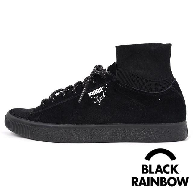 PUMA プーマ × BLACK RAINBOW BKRW CLYDE SOCK メンズ スニーカー ブラックレインボー クライドソック Puma Black 363670-01 [取扱店舗限定/LIMITED EDITION for CREAM]