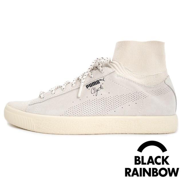 PUMA プーマ × BLACK RAINBOW BKRW CLYDE SOCK メンズ スニーカー ブラックレインボー クライドソック Whisper White 363670-02 [取扱店舗限定/LIMITED EDITION for CREAM]