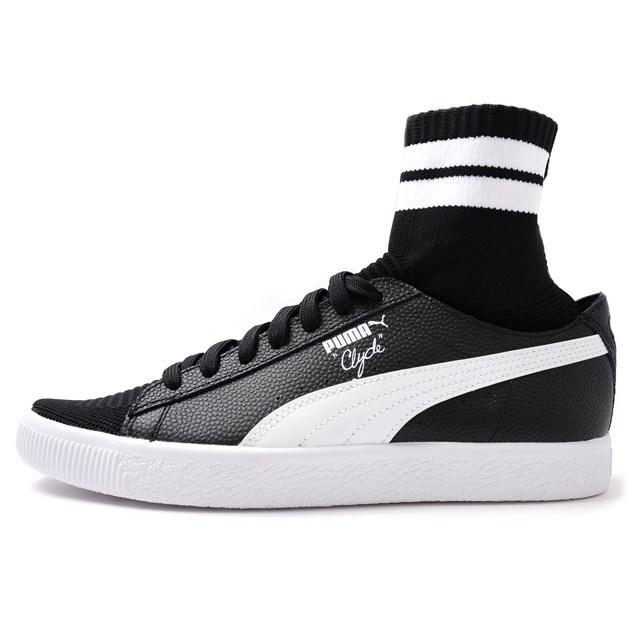 PUMA プーマ メンズ スニーカー Clyde Sock NYC クライドソック NYC Black/White 364948-01[取扱店舗限定/LIMITED EDITION/コラボ/ウォルト・フレイジャー/Walt Clyde Frazier]