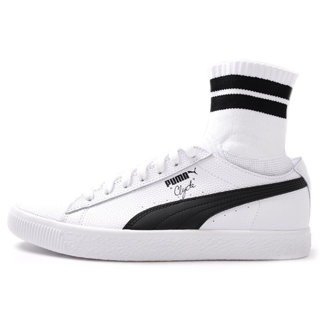 PUMA プーマ メンズ スニーカー Clyde Sock NYC クライドソック NYC White/Black pm7s-364948-02[取扱店舗限定/LIMITED EDITION/コラボ/ウォルト・フレイジャー/Walt Clyde Frazier]
