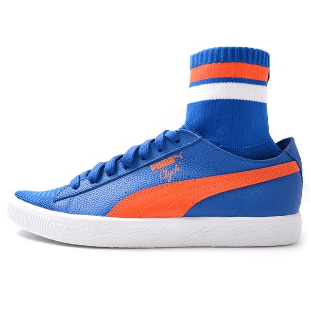 PUMA プーマ メンズ スニーカー Clyde Sock NYC クライドソック NYC Lapis Blue Scarlet Ibis 364948-03[取扱店舗限定/LIMITED EDITION/コラボ/ウォルト・フレイジャー/Walt Clyde Frazier]
