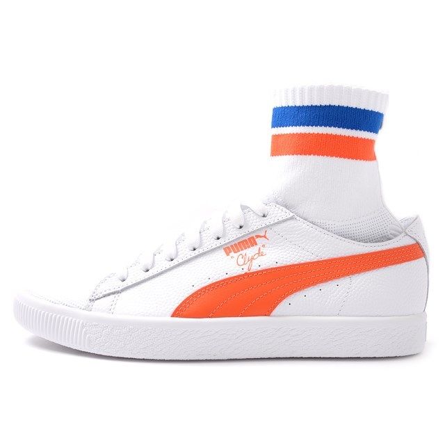 PUMA プーマ メンズ スニーカー Clyde Sock NYC クライドソック NYC White Scarlet Ibis 364948-04[取扱店舗限定/LIMITED EDITION/コラボ/ウォルト・フレイジャー/Walt Clyde Frazier]