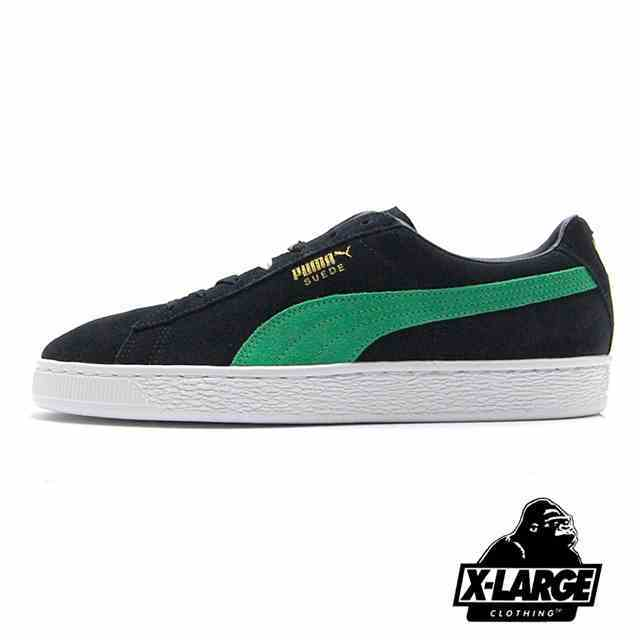 【6/28発売 先行予約】 PUMA SUEDE CLASSIC X XLARGE Puma Black-Kelly Green 366307-01