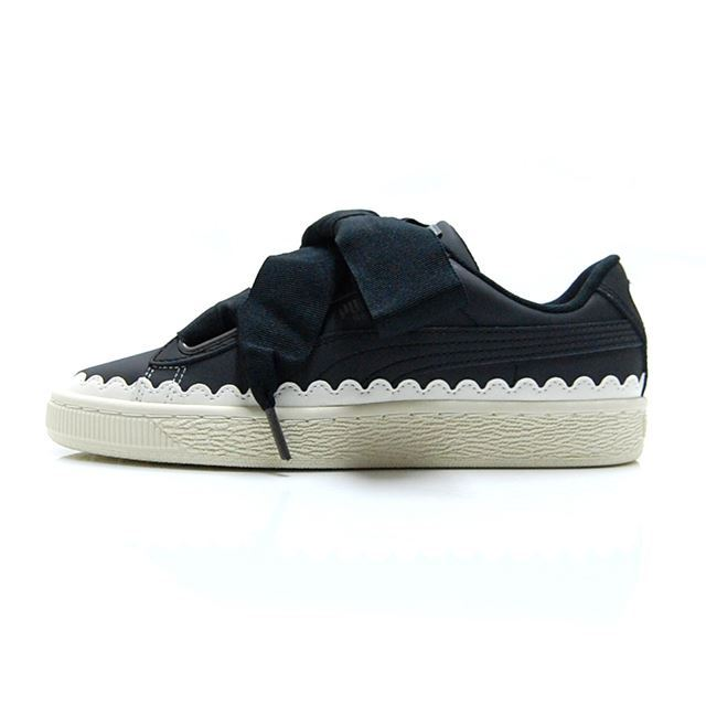 PUMA BASKET HEART SCALLOP WNS  Puma Black 366979-03