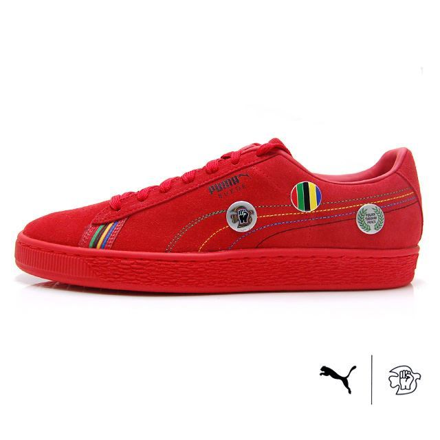 "PUMA SUEDE ""POWER THROUGH PEACE"" ASIA Flame Scarlet 368184-01"