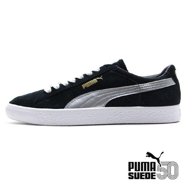 PUMA Suede 90681S BLACK SILVER LIMITED EDITION 366102-01