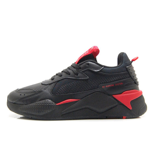 プーマ PUMA RS-X WINTERIZED BLACK-RED-CASTLERROCK メンズ スニーカー 370522-04