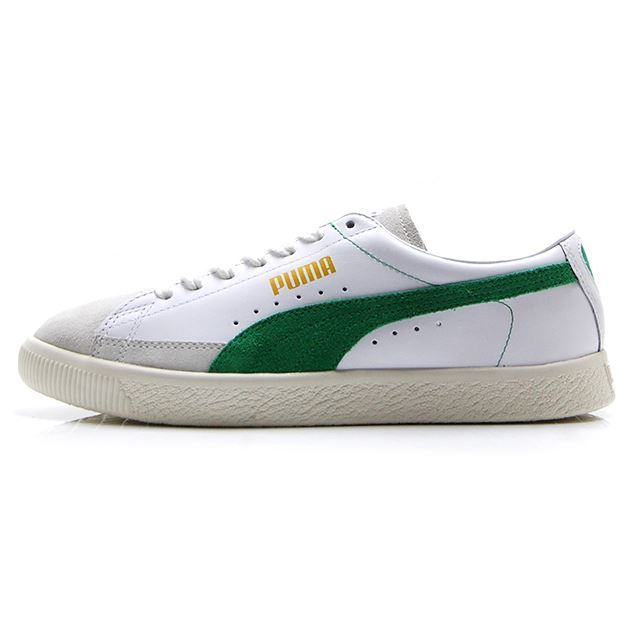PUMA BASKET 90680 PUMA WHITE-AMAZON GREEN 365944-06