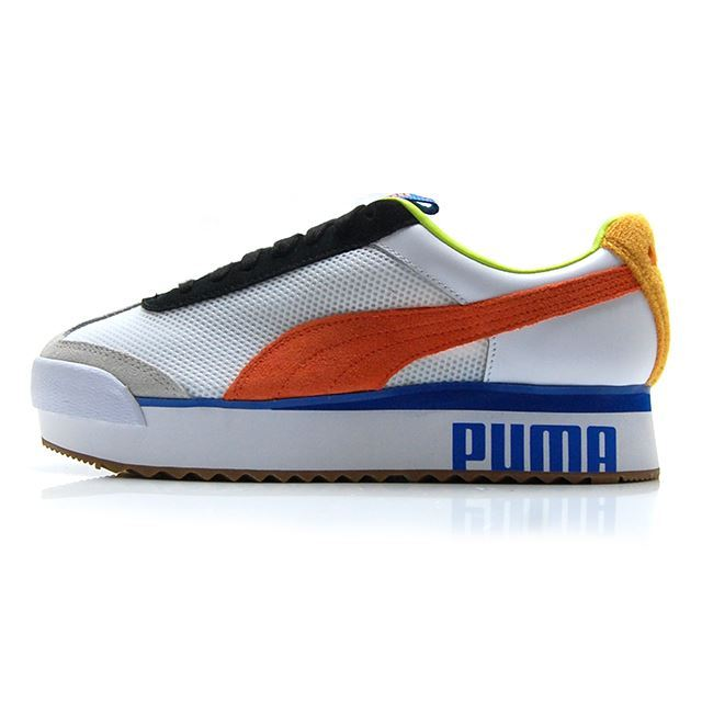 プーマ ローマ アーマー スポーツ PUMA ROMA AMOR SPORT PUMA WHITE-MANDARINE RED 371070-01