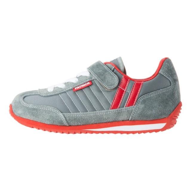 PATRICK パトリック キッズ スニーカー MARATHON-V マラソン・ベルクロ GRY グレー EN7524J [子供靴/ジュニア/男の子/女の子/ナイロン/ベロア/お揃い/国内正規販売店/Authorized Dealer]