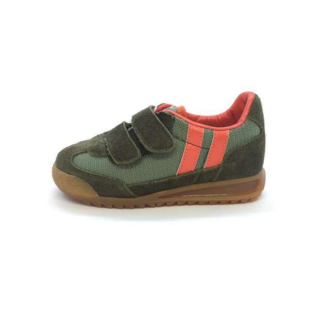 パトリック PATRICK 日本製 子供靴 キッズ スニーカー 男の子 女の子 ブロンクス ベルクロ カーキ BRONX-V KKI EN9008