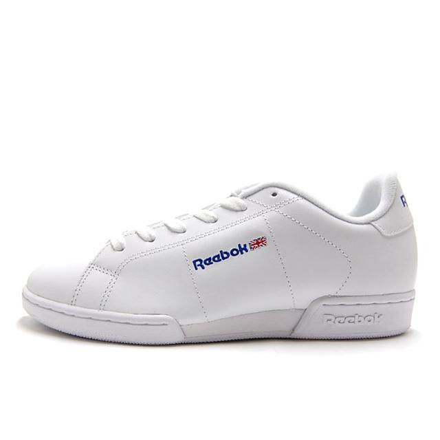 ReebokリーボックメンズレディーススニーカーNPC2ホワイト/ホワイト1354[WHITE/ローカット/シンプル/レザー]