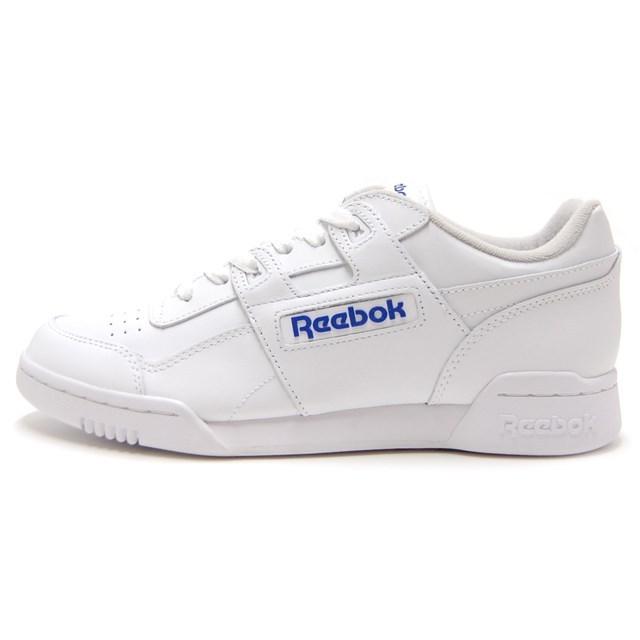 Reebok リーボック メンズ レディース スニーカー WORKOUT PLUS ホワイト/ロイヤル 2759 [レザー/カジュアル/スポーティ]