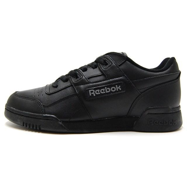 Reebok リーボック メンズ レディース スニーカー WORKOUT PLUS ブラック/ブラック/チャコール 2760 [レザー/カジュアル/スポーティ]