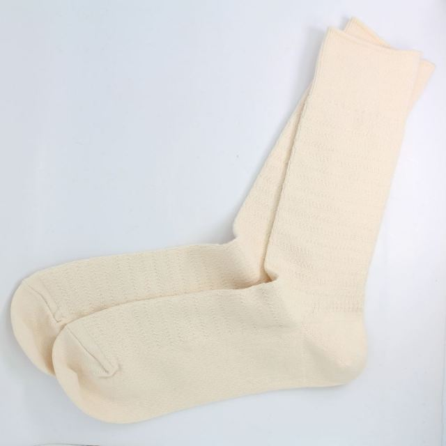 【SALE】 ロトト ROTOTO COTTON THERMAL SOCKS IVORY ソックス R1166-IVORY