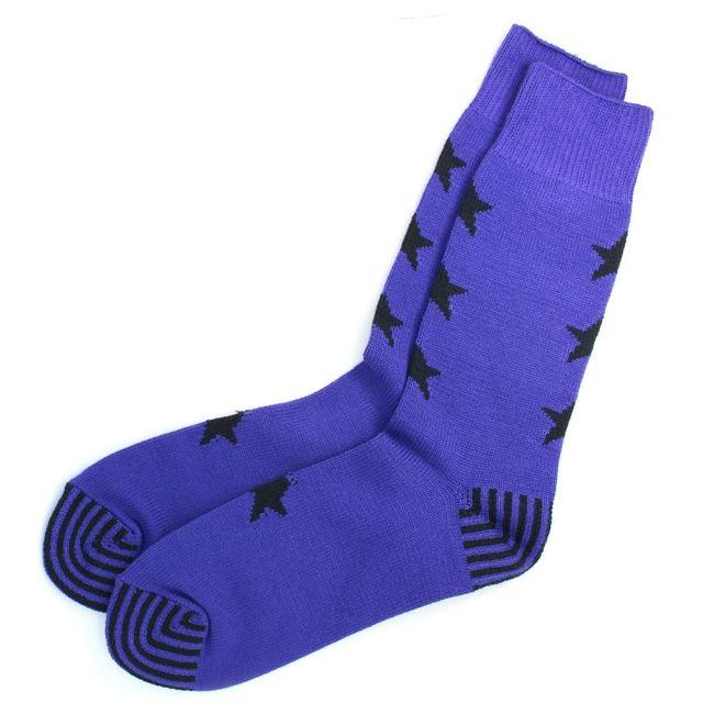 ロトト ROTOTO SEVEN STAR SOCKS BLUE PURPLE ソックス R1196-BLUE PURPLE