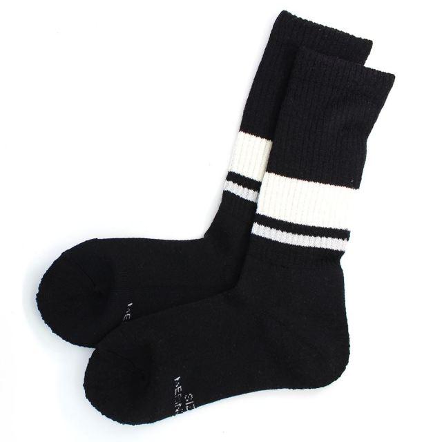 ロトト ROTOTO BRU NA BOINNE SAFETY BORDER SOCKS BLACK / WHITE ソックス ブルーナボイン R1257-BLACK / WHITE