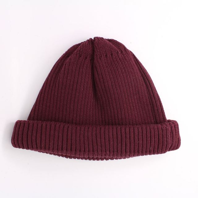 ロトト ROTOTO COTTON ROLL UP BEANIE BURG ロールアップビーニー R5021-BURG