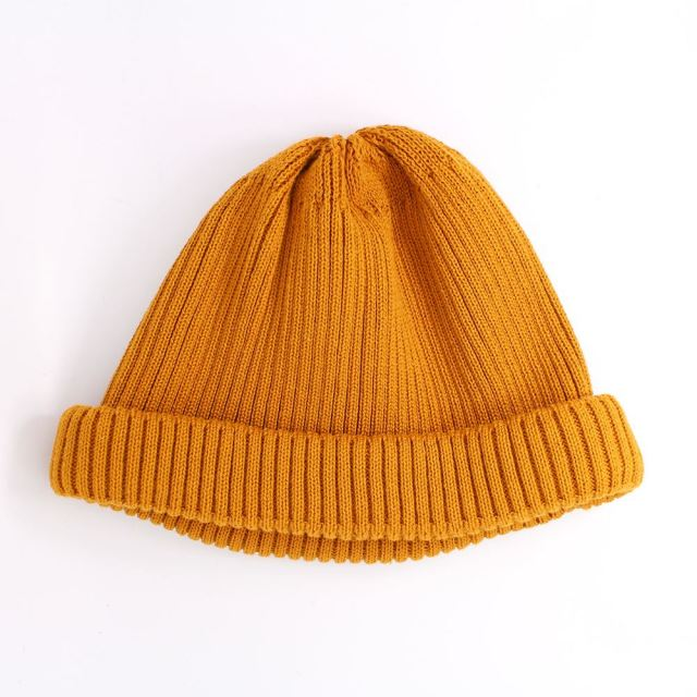 ロトト ROTOTO COTTON ROLL UP BEANIE YELLO ロールアップビーニー R5021-YELLO