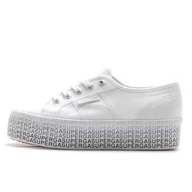 スペルガ SUPERGA 2790-COTW MINILWTTERING WHITE BLACK レディース スニーカー S111TPW-A69