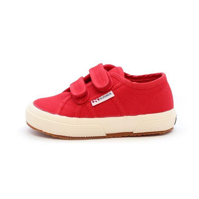 スペルガ キッズ 子供靴 ローカット スニーカー SUPERGA 2750 JVEL CLASSIC Red レッド 男の子 女の子 親子ペア S0003E0-975