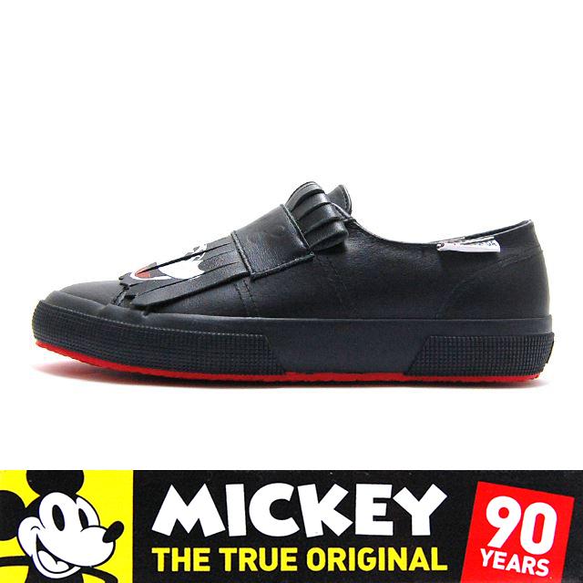 スペルガ SUPERGA スニーカー レディース MICKY MOUSE ミッキーマウス Disney Collection ディズニーコレクション CARTOON 2397-1928 FGLU Black S00ETM0-005