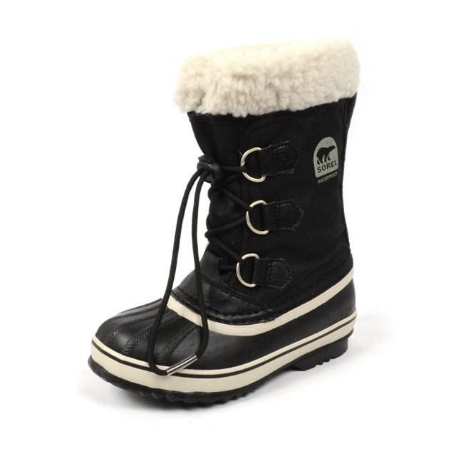SOREL ソレル キッズ ブーツ YOOT PAC NYLON ユートパックナイロン BLACK NY1879-010 ブラック/スノーブーツ/雪遊び/防寒/防水/ボア/ナイロン/国内正規販売店