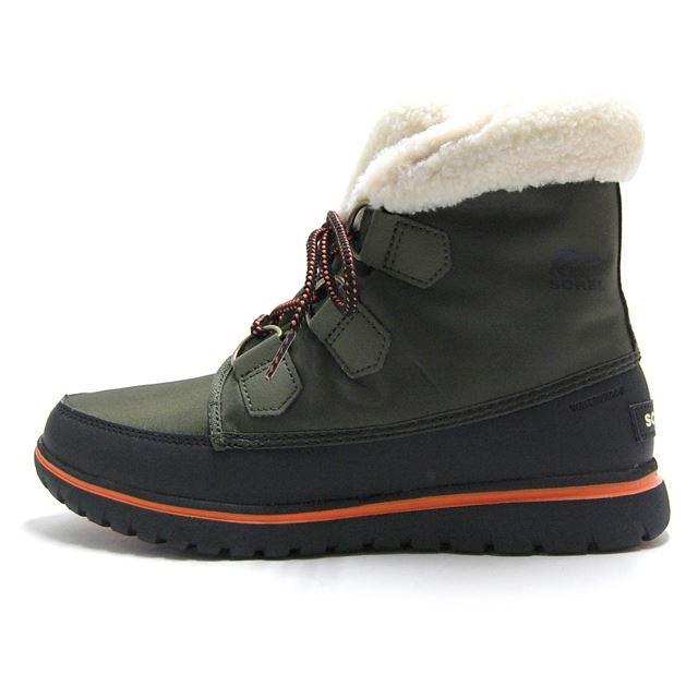 ソレル SOREL ブーツ レディース スノーブーツ コージーカーニバル COZY CARNIVAL 防水 ウォータープルーフ 防滑 カーキ NL2297-383