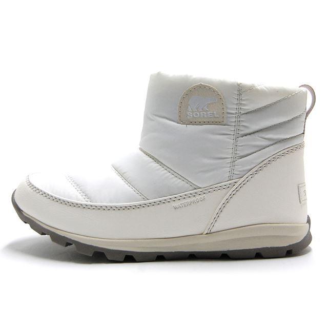 ソレル SOREL ブーツ レディース ウィンターブーツ ウィットニーキャンプ WHITNEY CAMP 防水 ウォータープルーフ  ホワイト NL2692-125