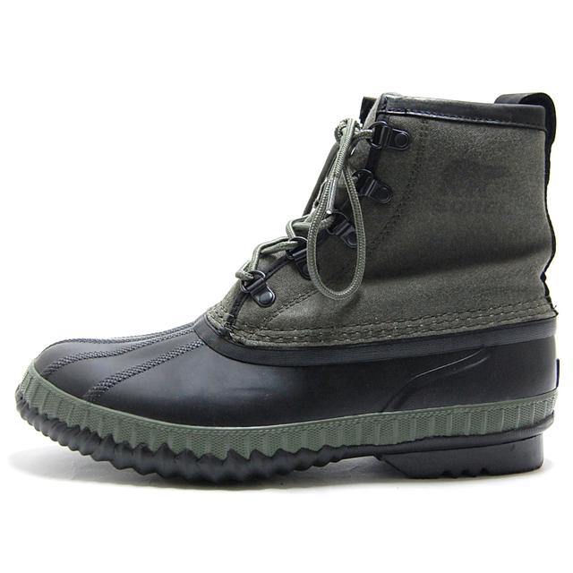 ソレル SOREL ブーツ メンズ スノーブーツ シャイアン2ショート CHEYANNE II SHORT CVS 防水 ウォータープルーフ 防滑 グリーン NM2605-383