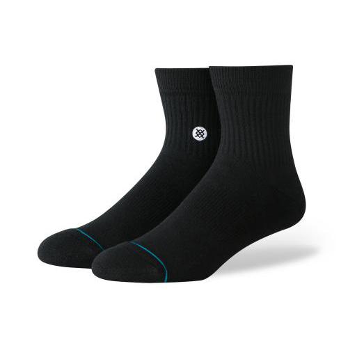 スタンス STANCE メンズ ソックス 靴下 ICON QTR BLACK/WHITE M356C19ICO-BLW /Lサイズ(25.5-29cm)