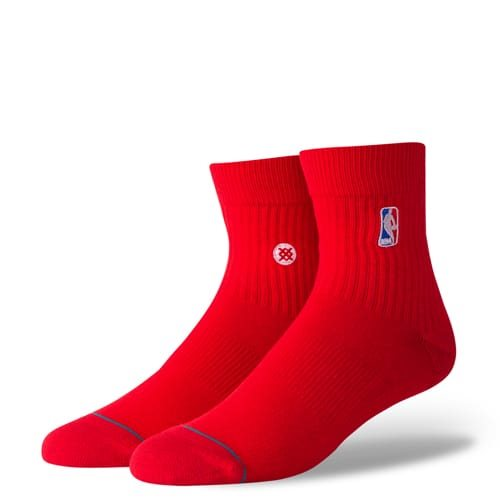 スタンス STANCE メンズ ソックス 靴下 NBA LOGOMAN QTRM356D17LOG-RED-L