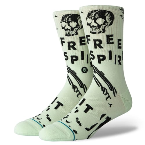 STANCE スタンス メンズ ソックス 靴下 FREE SPIRIT MINT M556A19FRE-MIN-Lサイズ(25.5-29.0cm)