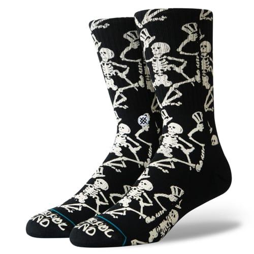 STANCE スタンス メンズ ソックス 靴下 GRATEFUL SKULLS BLACK M556A19GRS-BLK-Lサイズ(25.5-29.0cm)