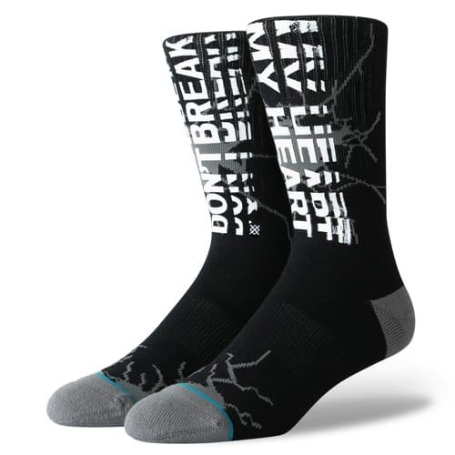 STANCE スタンス メンズ ソックス 靴下 SILENT SIGNALS BLACK M556A19SIL-BLK-Lサイズ(25.5-29.0cm)