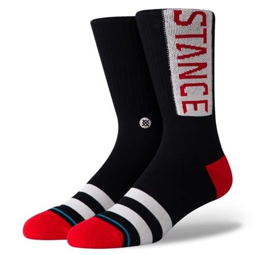 スタンスSTANCEOGREDメンズソックス靴下M556D17OGG-RED/Lサイズ(25.5-29cm)