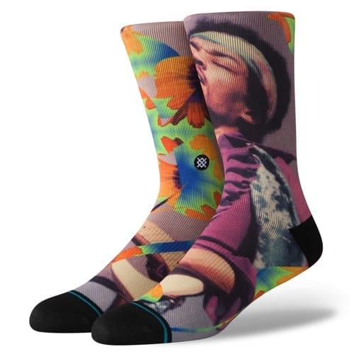 スタンス STANCE JIMI FLOWERS MULTI メンズ ソックス 靴下 JIMI HENDRIX ジミ・ヘンドリックス M558D19JIM-MUL Lサイズ(25.5-29cm)