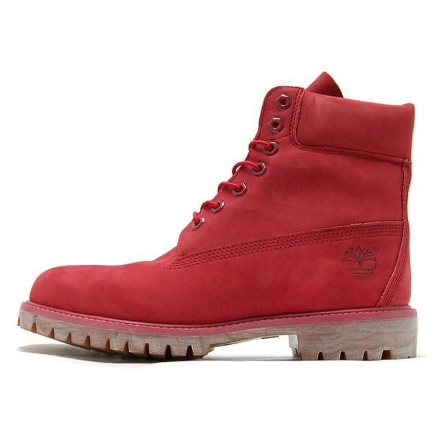 Timberland ティンバーランド メンズ ブーツ 6インチ プレミアム ブーツ レッド ヌバック モノクロマチック A1149 [レザー/国内正規販売店]