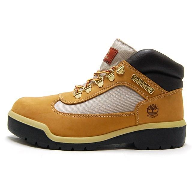 Timberland ティンバーランド メンズ ブーツ フィールド ブーツ ファブリック アンド レザー ウォータープルーフ ウィート ウォーターバック ヌバック A18RI [ブラウン/レザー/防水/ミッドカット/シューズ]