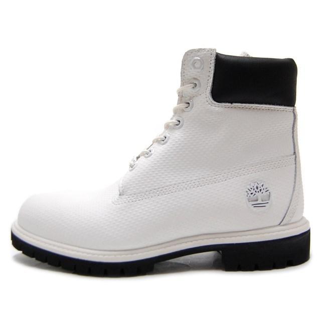 Timberland ティンバーランド メンズ ブーツ アイコン シックスインチ プレミアムブーツ ホワイト ヘルコア レザー A1GUY [白/ハイカット/ウォータープルーフ/ヌバック/レザー/カジュアル/防水]