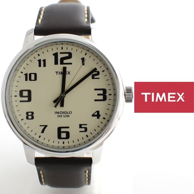 TIMEXタイメックスBIGEASYREADERビッグイージーリーダー革ベルトT28201【ミリタリー/男性用/女性用/定番モデル】
