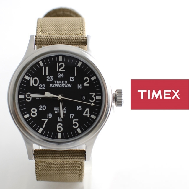 TIMEXタイメックス腕時計EXPEDITIONSCOUTMETALエクスペディションスカウトメタルT49962【男性用/女性用/ナイロン】