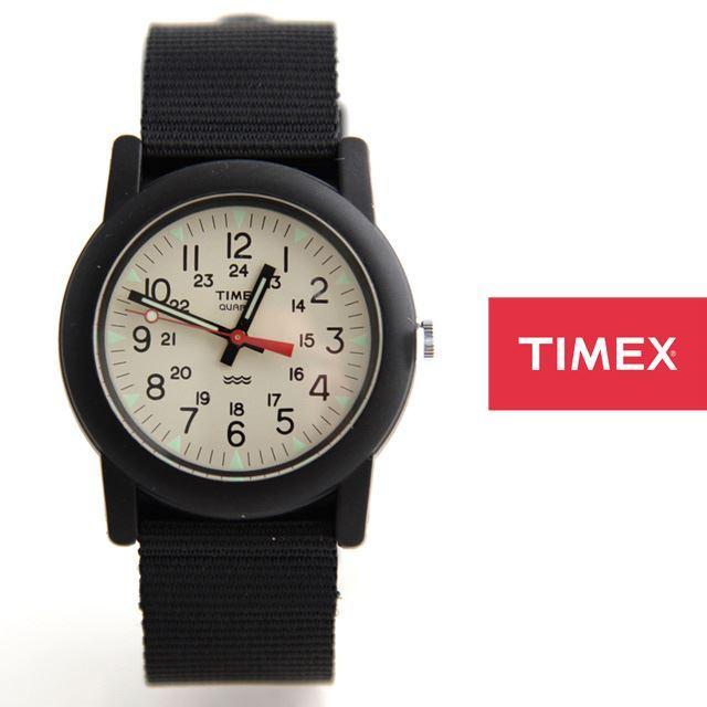 TIMEXタイメックスミリタリーチビミリアーミー腕時計Camper定番モデルTW2P597【男性用/女性用/アイボリー文字盤】