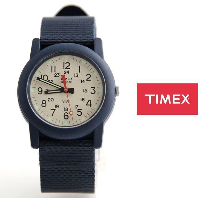 TIMEXタイメックスミリタリーチビミリアーミー腕時計Camper定番モデルTW2P599【男性用/女性用/アイボリー文字盤】