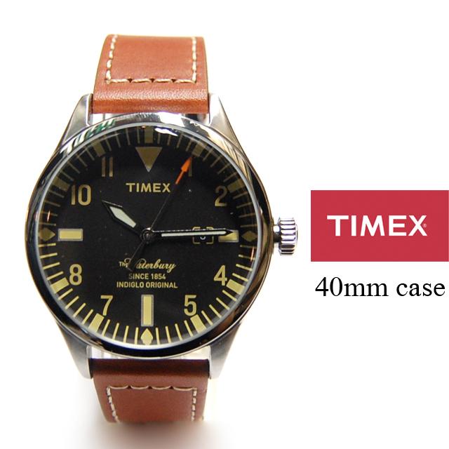 TIMEX タイメックス メンズ レディース 腕時計 Waterbury Red Wing Shoe Leather 40mm ウォーターベリー レッドウィングシューレザー TW2P84000 [コラボ/5気圧防水/インディグロナイトライト/国内正規販売店/Authorized Dealer]